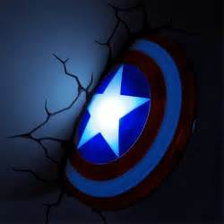 marvel 3d deco superhero wall lights thinkgeek