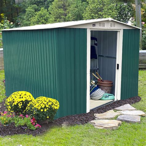 Storage Houses For Backyard by 10 X8 Storage Shed Large Backyard Outdoor Garden Garage