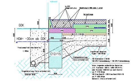 Bodenplatte Ohne Fundament by D 228 Mmung Unter Bodenplatte Bei Streifenfundament