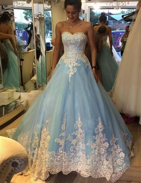 cheap light blue wedding dress