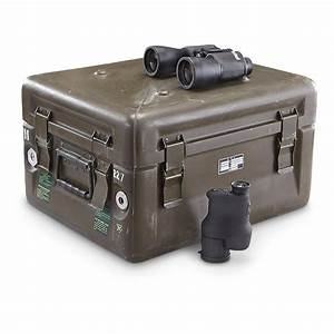 Used Belgian Military Waterproof Shipping Box  Olive Drab