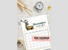 5 FREE ChristmasThemed December Printable Calendar