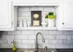 subway tile backsplashes for kitchens 10 subway white marble backsplash tile idea backsplash
