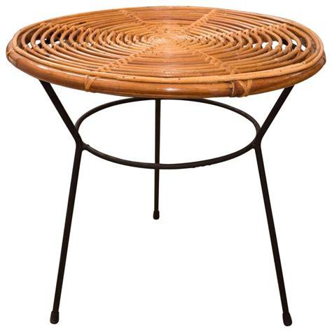 metal table base for sale rattan circular side table with metal base for sale at 1stdibs