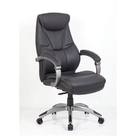 647181353329 bonded leather faced executive chair black
