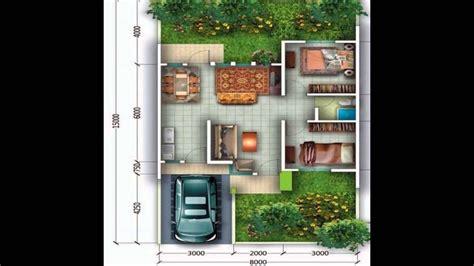 gambar denah rumah minimalis type  model  lantai