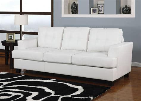 leather sectional sleeper sofa acme bonded leather sofa sleeper in white 15062