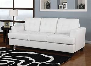 acme diamond bonded leather sofa sleeper in white 15062 With bonded leather sectional sleeper sofa