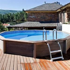 piscine hors sol imitation bois valdiz With piscine hors sol beton aspect bois