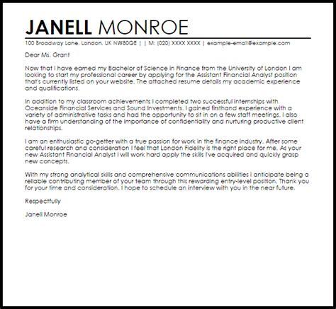 finance job sample cover letter cover letter templates
