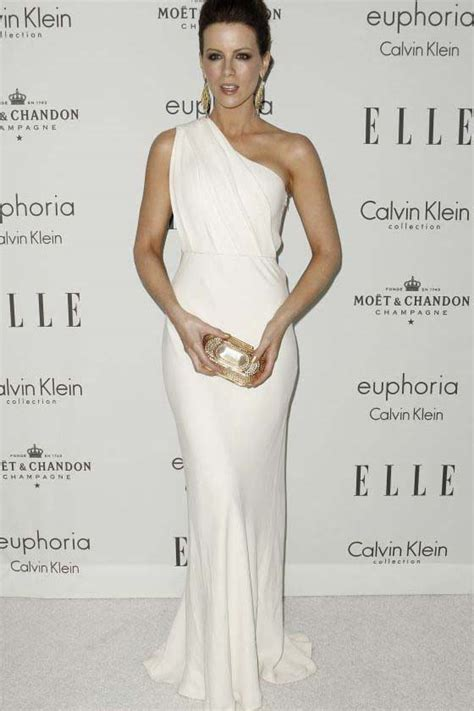 kate beckinsale white  shoulder prom dress evening gown thecelebritydresses