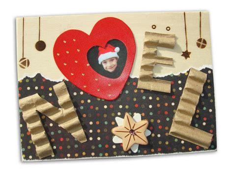 Carte Noel Avec Photo Embellie Et Pyrogravée