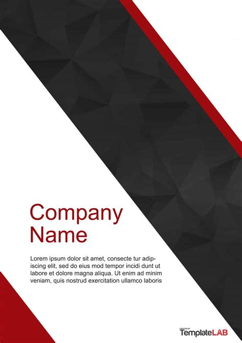 Free Cover Page Templates Word