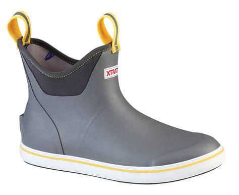 boots deck xtratuf ankle boot gray gear tackledirect angler tackle yimg ep coastalanglermag