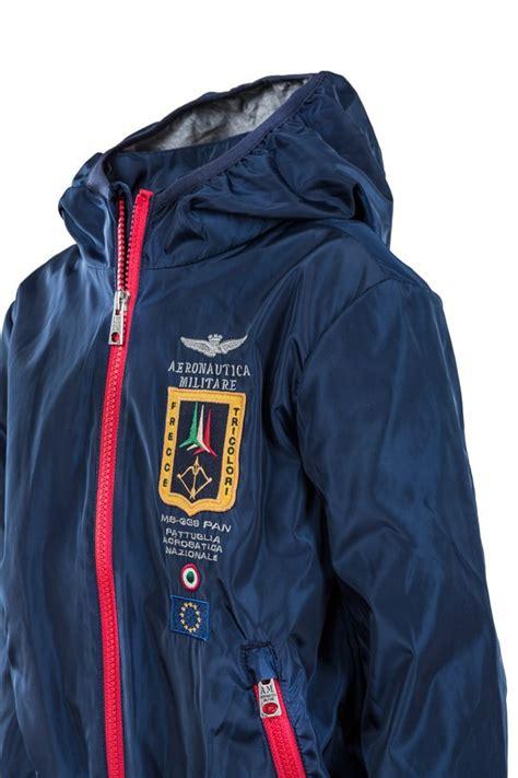 hooded zipped jacket aeronautica militare junior hooded zipped jacket in navy