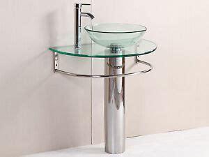 Modern Bathroom Glass Vanities by Modern Bathroom Vanities Pedestal Vessel Glass Furniture