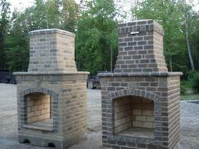 Outdoor Fireplace Brick Outdoor Decorating Idea Patio Chimney Fire Pit Types