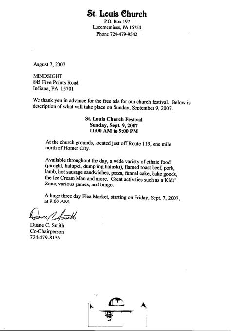 Miller as you can see, this note is a little less formal because they are friends. Church Contribution Letter   IPASPHOTO