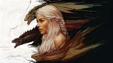 game  thrones dragon daenerys targaryen fantasy art
