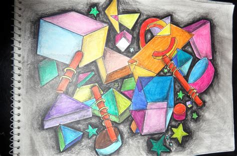 Abstract Drawing Using Shapes by Maju S