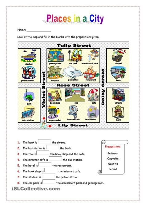 Places In A City  Esl Worksheets Of The Day  Pinterest  Places, Printables And Student