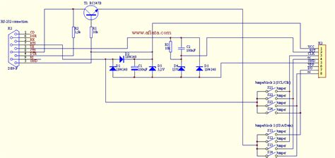 Serial Port Circuit Electronic Diagram Layout