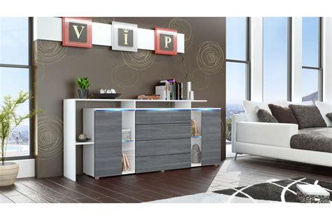 Buffet  Rangement Long Blanc Design Lisa Cbcmeubles