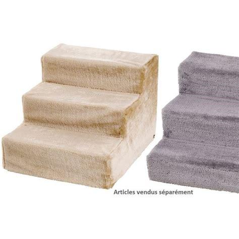 escalier pour chien beige 43x41x29 cm achat vente entrainement agility escalier pour chien