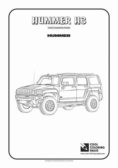 Coloring Pages Cool Hummer H3 Cars Vehicles