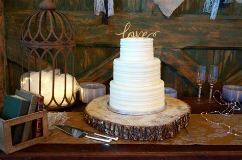 Just Simple Classy Bride Stuffed Simple Rustic Bed Cake