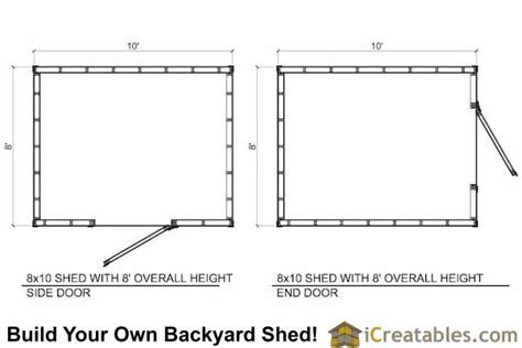 Shed Floor Plans 8x10 by 8x10 Shed Plans Icreatables