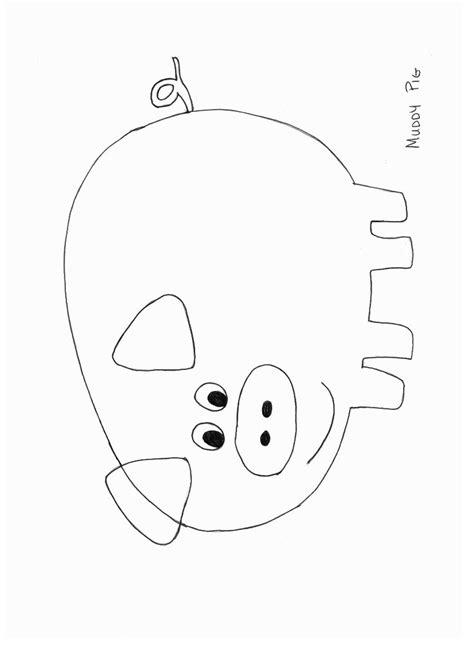 animals crafts print  pig craft template