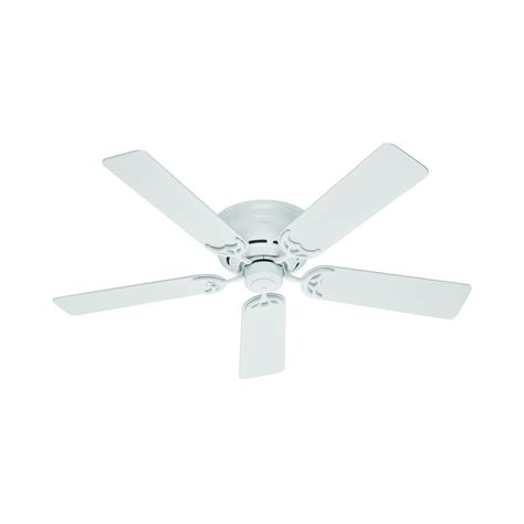 hunter fan company low profile iii white ceiling fan