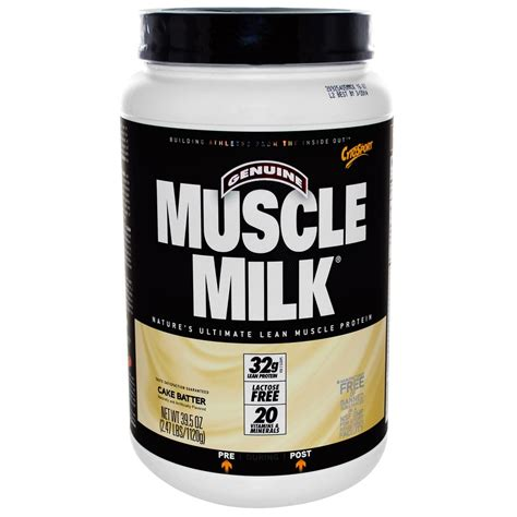 muscle milk protein powder  cake batter  tasting