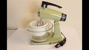 Vintage Green Sunbeam Mixmaster Mixer Retro