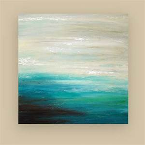 beach seascape original art abstract acrylic painting on With what kind of paint to use on kitchen cabinets for abstract ocean wall art