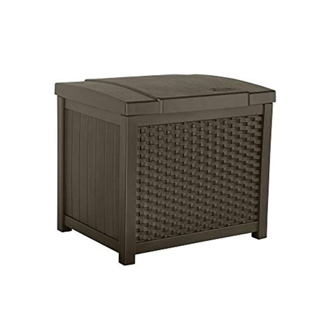suncast 22 gallon deck box suncast ssw900 wicker deck box 22 gallon deck boxes