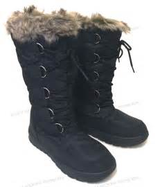 womens boots footwear 39 s winter boots fur warm insulated waterproof zipper ski shoes sizes ebay