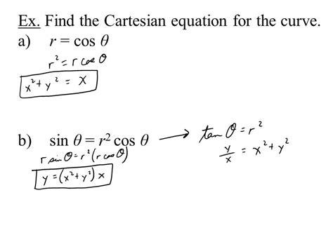 Polar Coordinates Rectangular (cartesian) Coordinates Plot