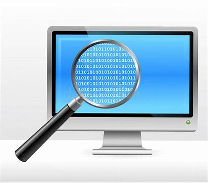 Ordinateur Computer Magnifying Glass Under Monitor Moniteur