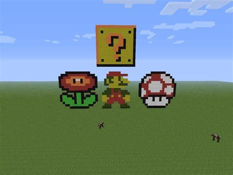 super mario pixel art minecraft blog