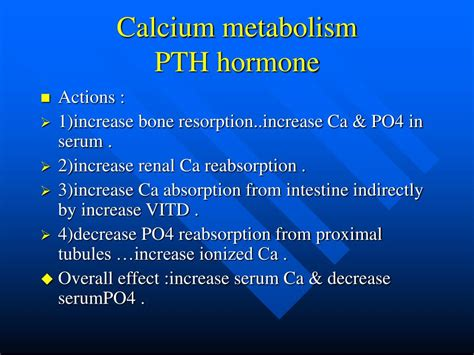 ppt calcium metabolism and hypocalcemia powerpoint presentation id 517456