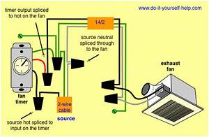 Wiring Diagram For A Bathroom Exhaust Fan Timer