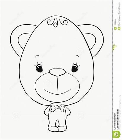 Coloring Bear Boy Funny