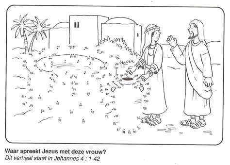 Where Jesus Speaks With This Woman? Woman At The Well Dot To Dot  Bible Nt The Woman At The