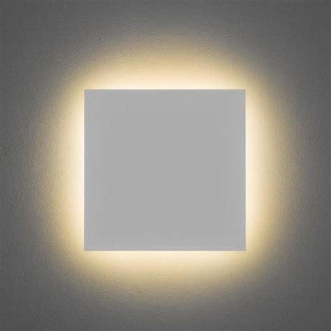 astro eclipse square 300 ip20 3000k led wall light
