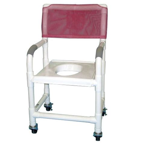 18 pvc shower chair w support seat 3 x 1 1 4 heavy