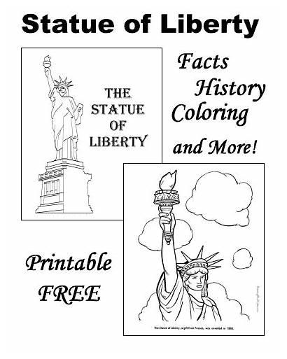 Liberty Statue Coloring Pages Facts Symbols Patriotic