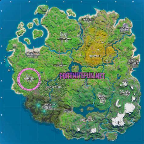 fortnite holly hedges location fortnite battle royale