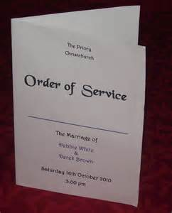 wedding reception order of service order of service covers personalised wedding design various colours x10